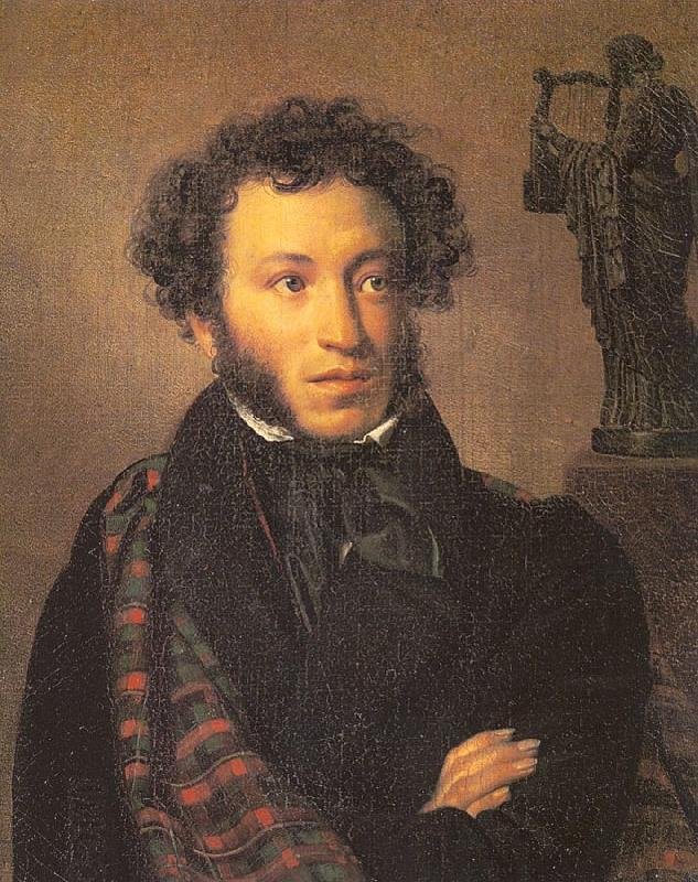 Orest Kiprensky The Poet, Alexander Pushkin
