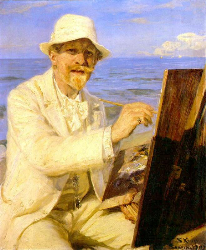 Peter Severin Kroyer Self Portrait  2222
