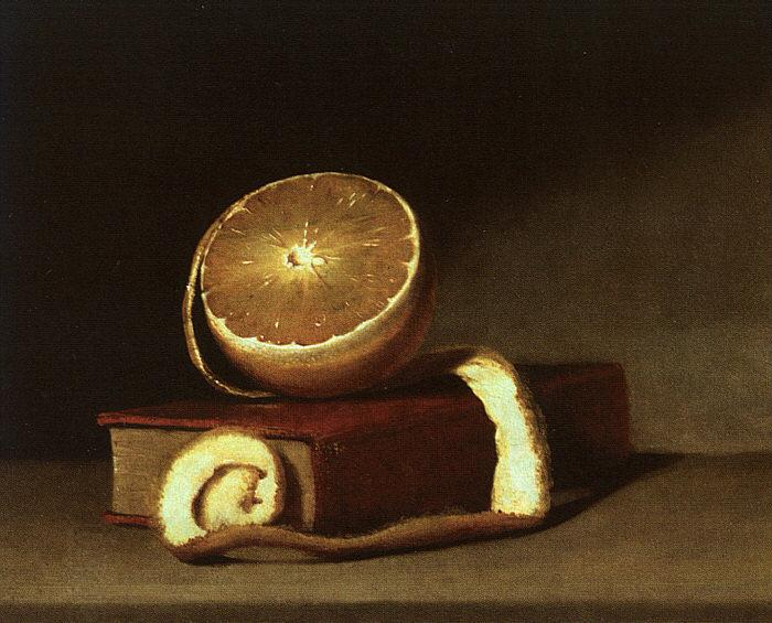 Raphaelle Peale Still Life with Orange and Book