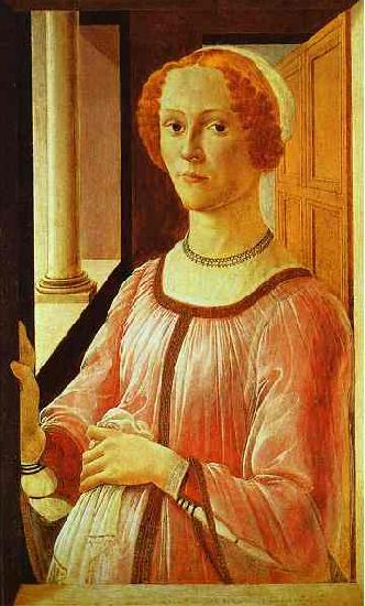 Sandro Botticelli Portrait of a Lady oil painting picture