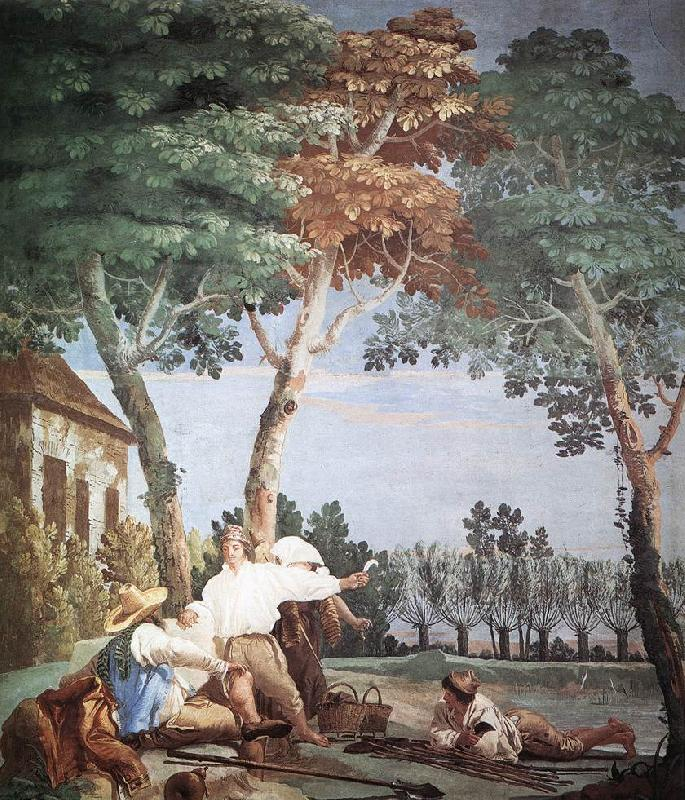 TIEPOLO, Giovanni Domenico Peasants at Rest r