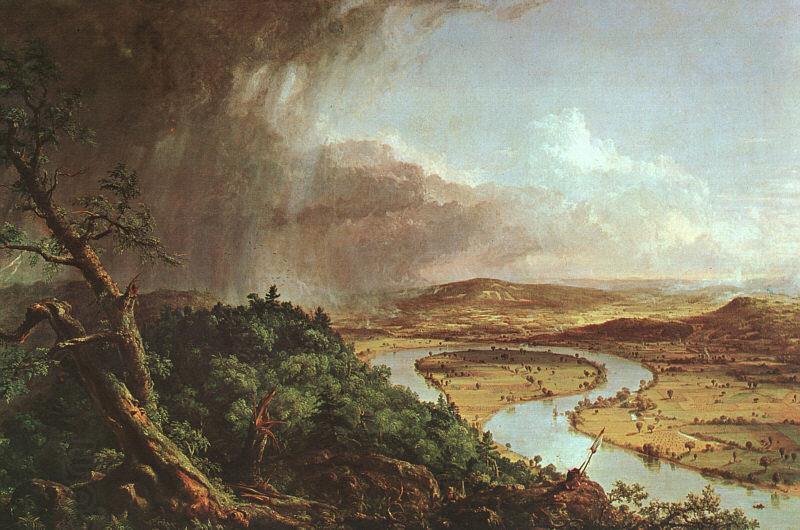 Thomas Cole The Connecticut River near Northampton oil painting picture