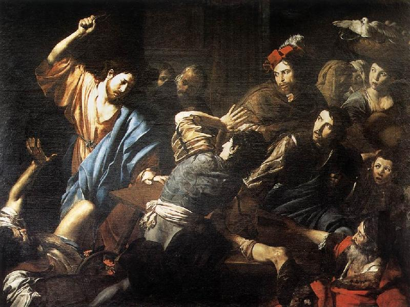 VALENTIN DE BOULOGNE Christ Driving the Money Changers out of the Temple kjh