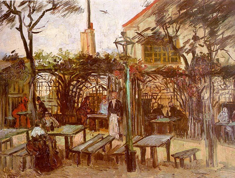 Vincent Van Gogh Terrace of the Cafe on Montmartre