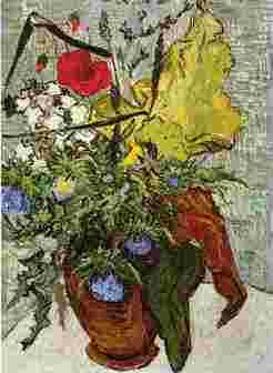 Vincent Van Gogh Wild Flowers and Thistles in a Vase