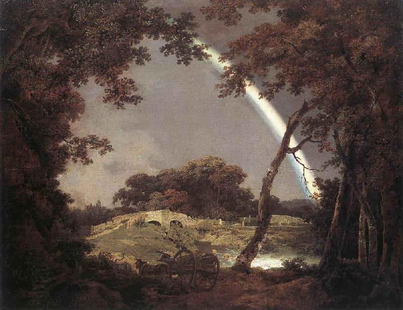 WRIGHT, Joseph Landscape with Rainbow wer