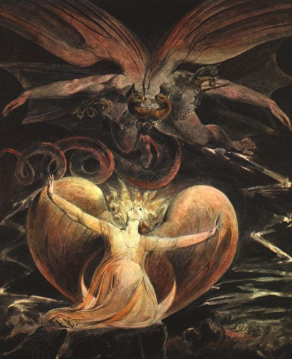 William Blake The Great Red Dragon and the Woman Clothed with the Sun