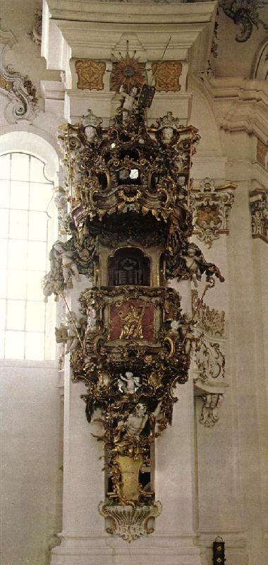 ZIMMERMANN  Dominikus Pulpit oil painting picture