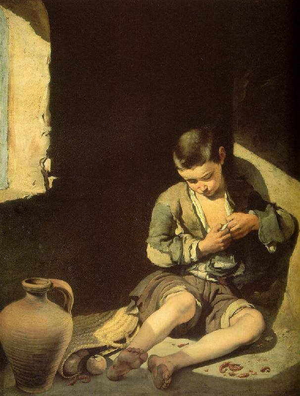 MURILLO, Bartolome Esteban The Young Beggar sg oil painting picture