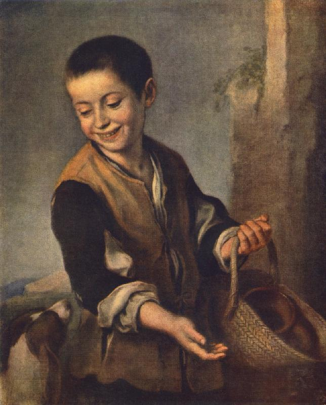 MURILLO, Bartolome Esteban Boy with a Dog sgh oil painting picture