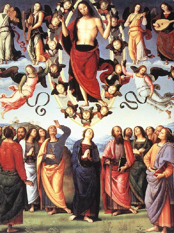 PERUGINO, Pietro The Ascension of Christ af