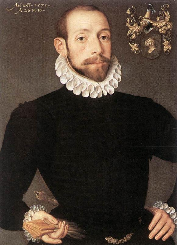 POURBUS, Frans the Younger Portrait of Olivier van Nieulant af oil painting picture