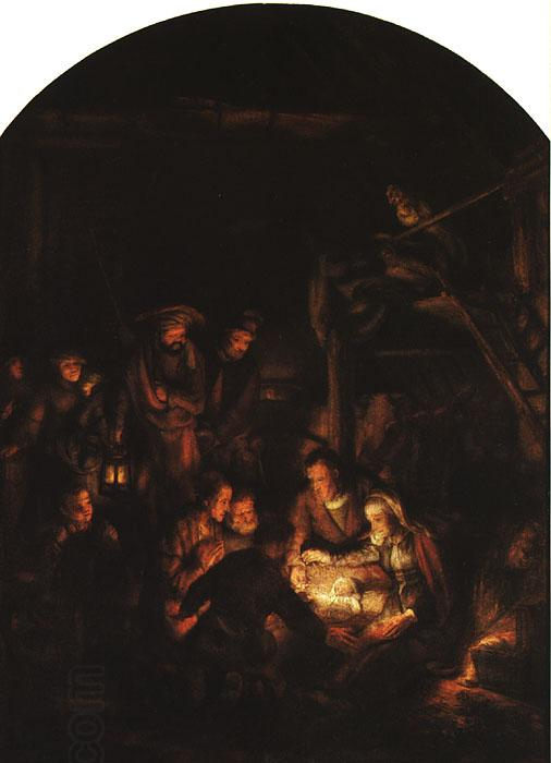 REMBRANDT Harmenszoon van Rijn Adoration of the Shepherds China oil painting art