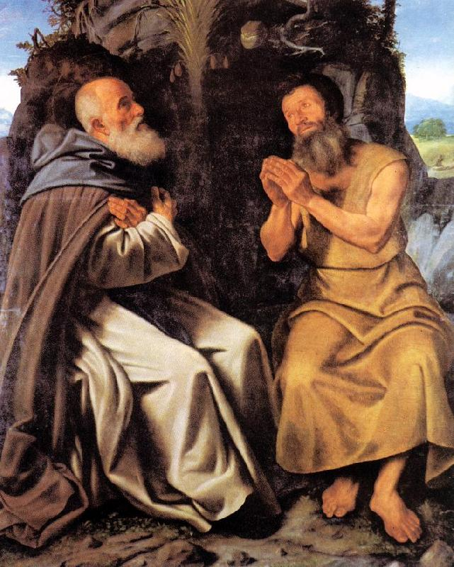 SAVOLDO, Giovanni Girolamo St Anthony Abbot and St Paul