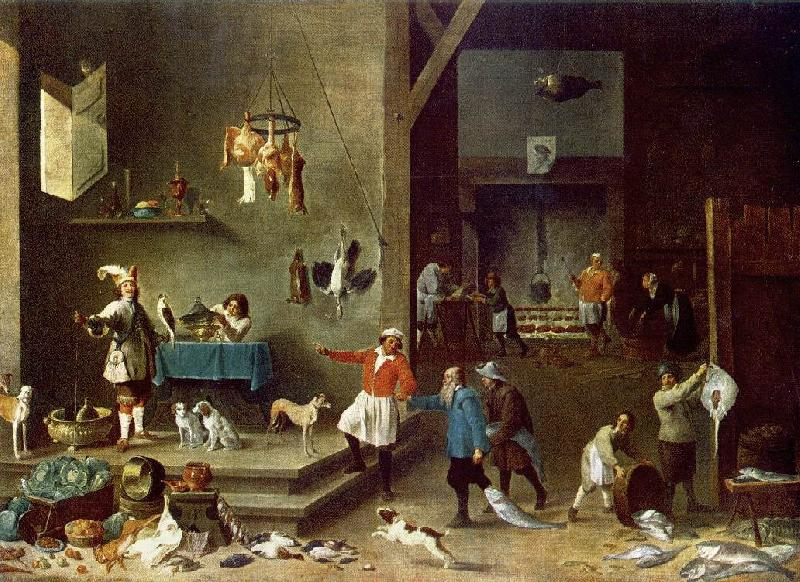 TENIERS, David the Younger The Kitchen t