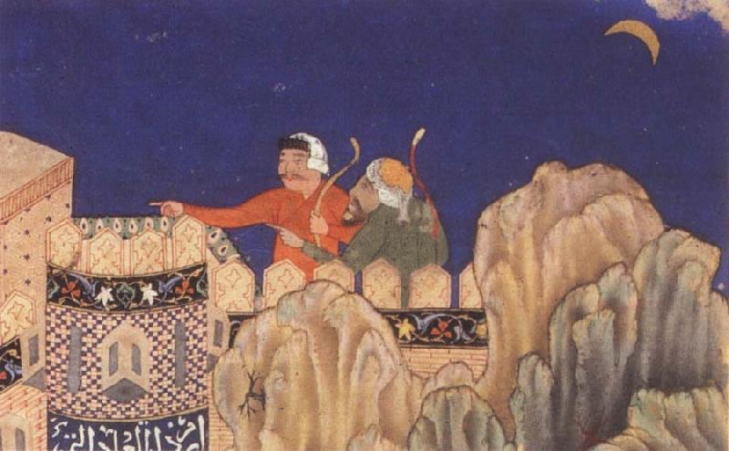 Bihzad The Crescent moon turned downwards oil painting picture