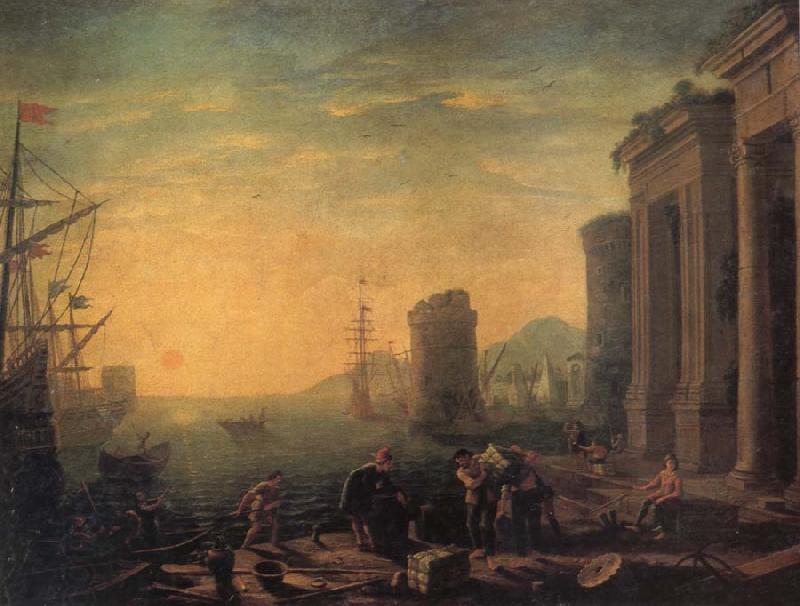 GILLOT, Claude Morning in the Harbour oil painting picture