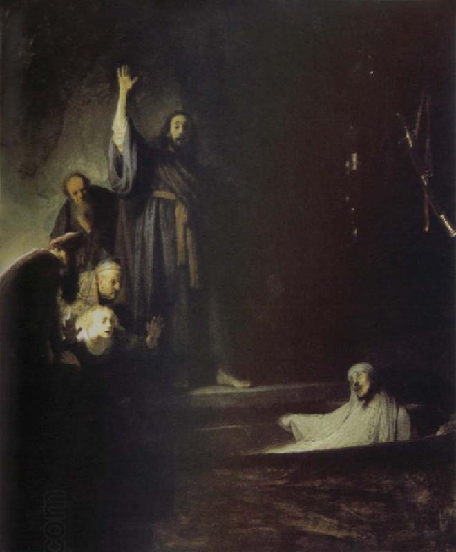 REMBRANDT Harmenszoon van Rijn The Raising of Lazarus oil painting picture