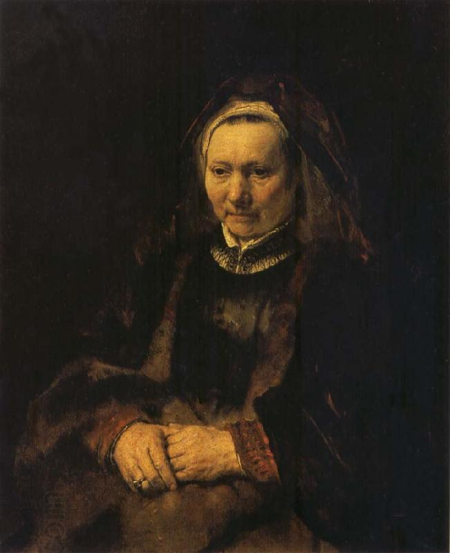 REMBRANDT Harmenszoon van Rijn Portrait of an Old Woman oil painting picture