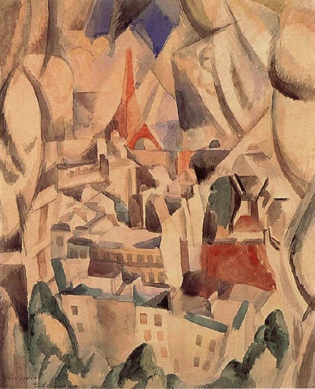 Delaunay, Robert The Window towards to City oil painting picture