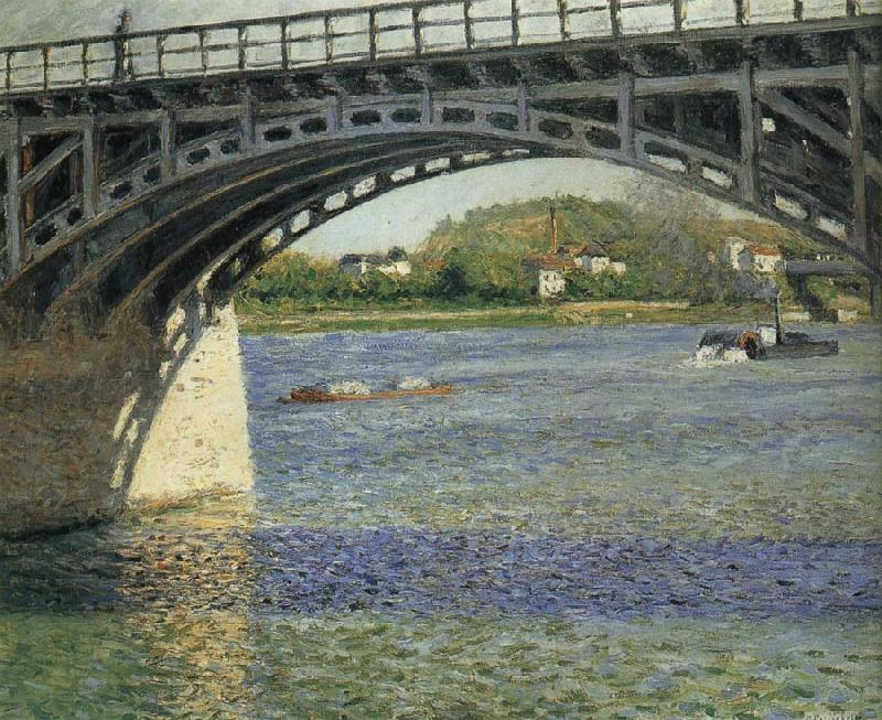 Gustave Caillebotte Bridge oil painting picture