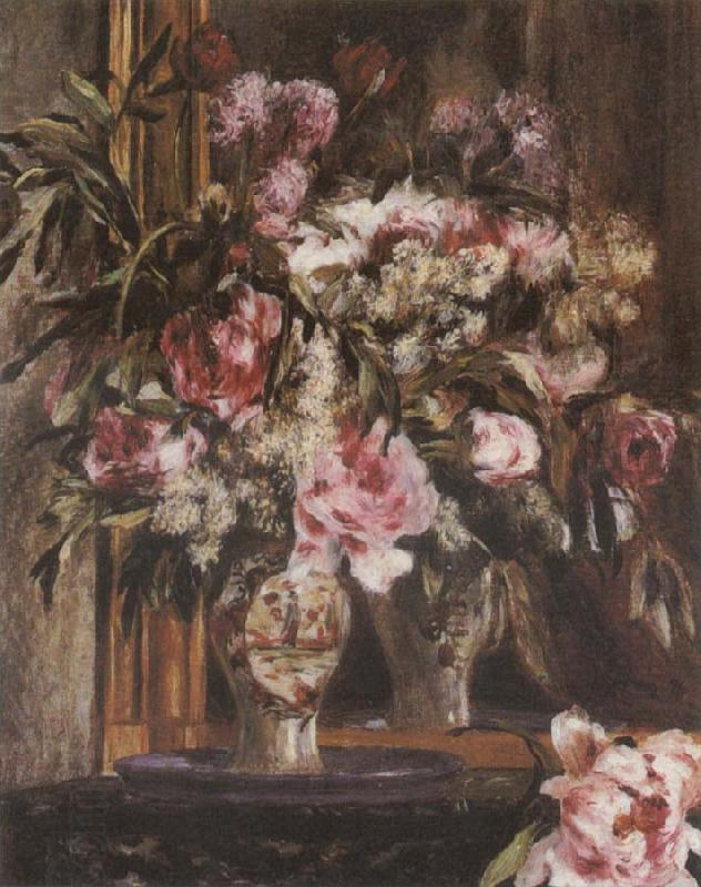 Pierre-Auguste Renoir Peonies,Lilacs ad Tulips China oil painting art