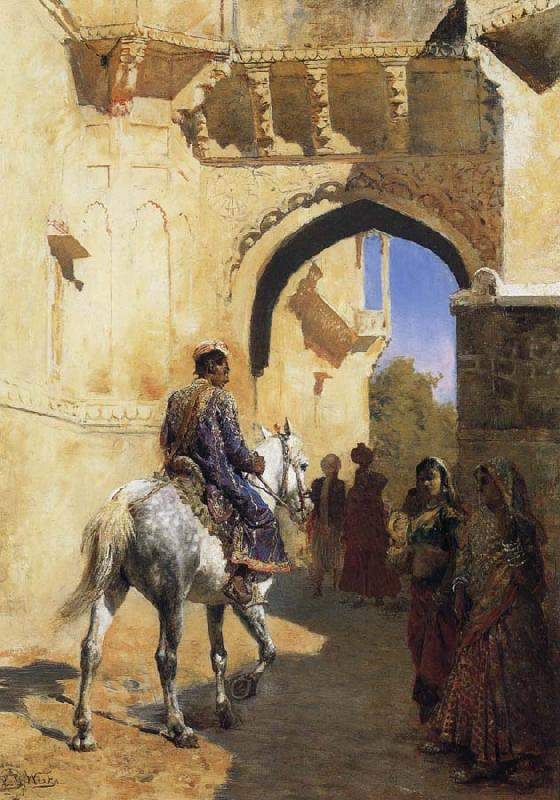 Edwin Lord Weeks A Street SDcene in North West India,Probably Udaipur
