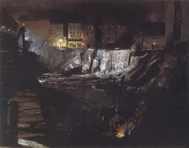 George Bellows Excavation at Night