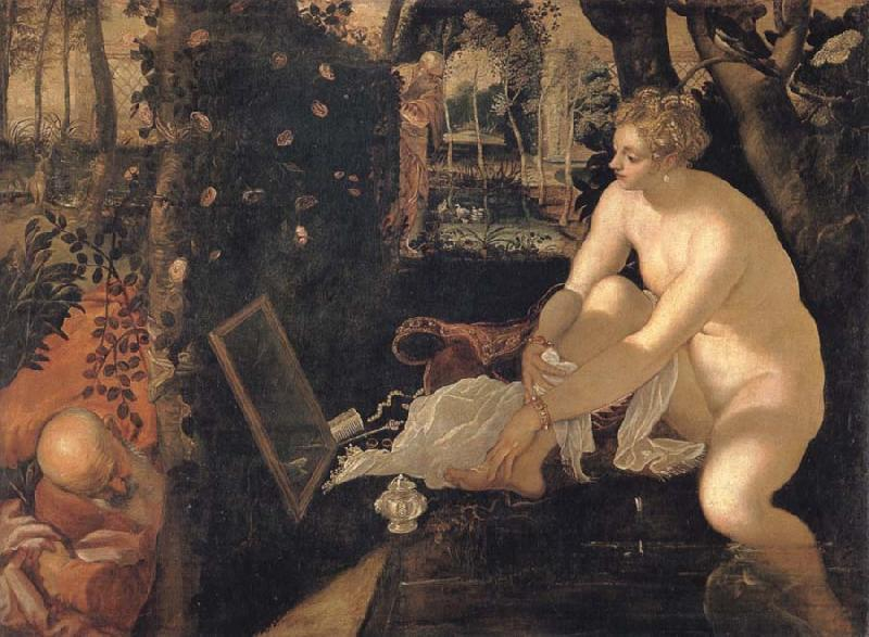 Tintoretto Susanna and the elders oil painting picture