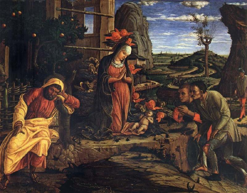 Andrea Mantegna Adoration of the Shepherds oil painting picture