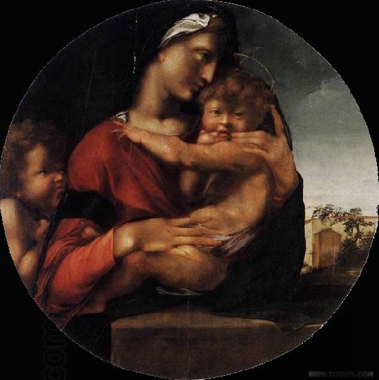 BERRUGUETE, Alonso Madonna and Child with the Young St John oil painting picture