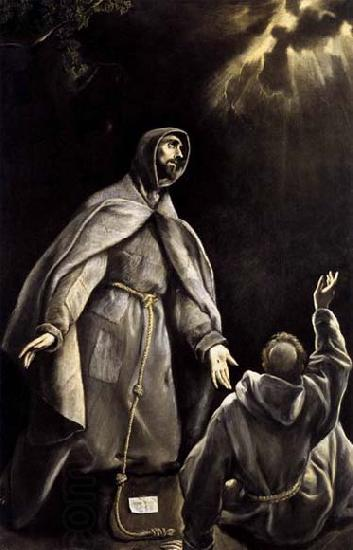 GRECO, El St Francis-s Vision of the Flaming Torch
