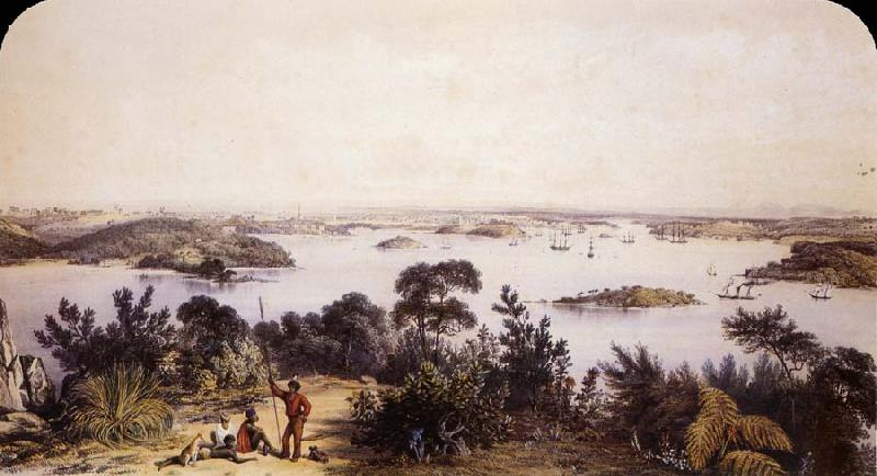 George French Angas The City and Harbour of Sydney oil painting picture