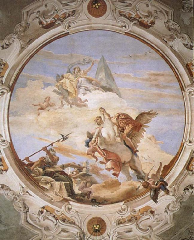 Giovanni Battista Tiepolo A Genius on Pegasus Banishing Time oil painting picture