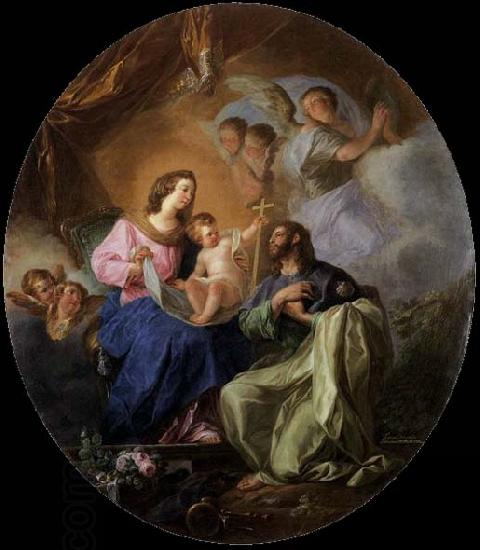 Luis Paret y alcazar Virgin and Child with St James the Great