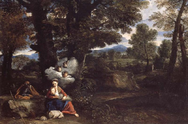 MOLA, Pier Francesco THe Rest on the Flight into Egypt oil painting picture