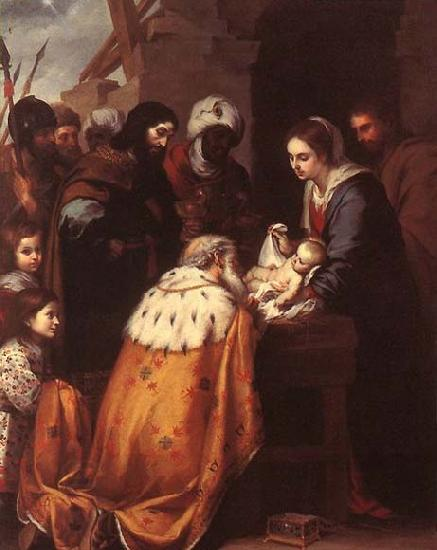 MURILLO, Bartolome Esteban Adoration of the Magi oil painting picture