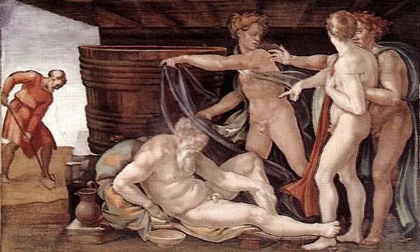 Michelangelo Buonarroti Drunkenness of Noah