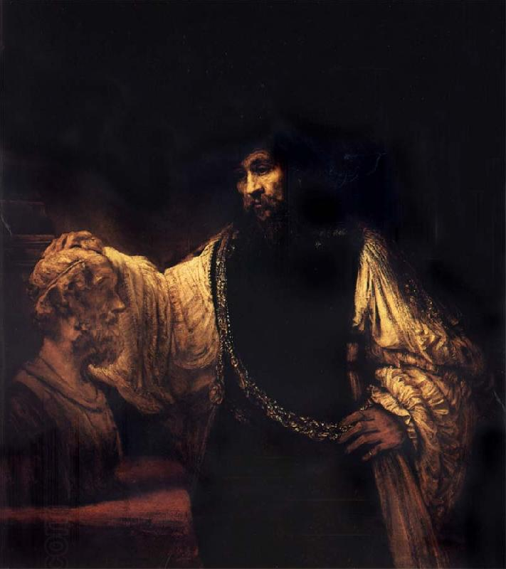 Rembrandt van rijn Aristotle with a Bust of Homer China oil painting art