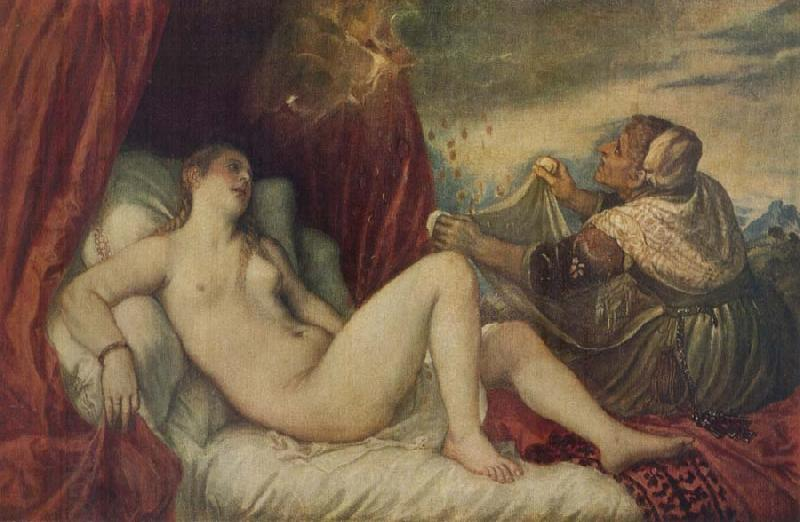 Titian Danae oil painting picture