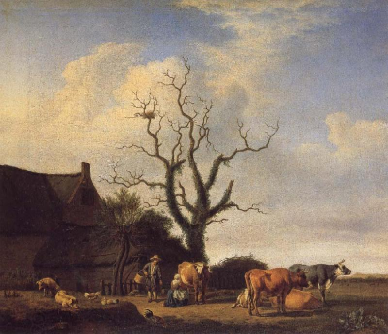 VELDE, Adriaen van de A Farm with a Dead Tree
