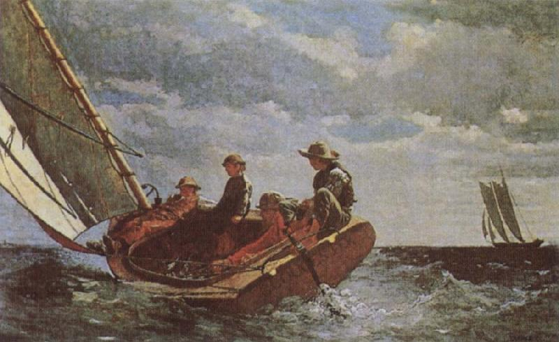 Winslow Homer Breezing Up China oil painting art