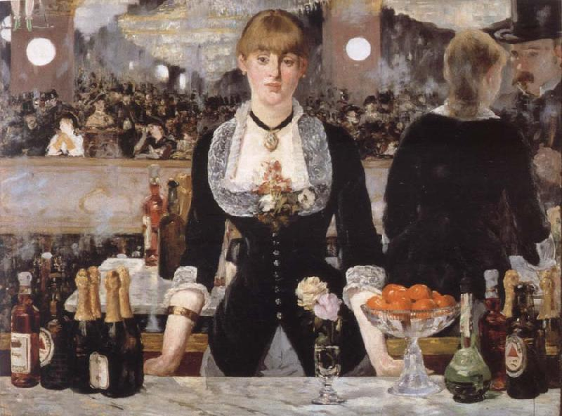 Edouard Manet Bar in the foil-Bergere oil painting picture