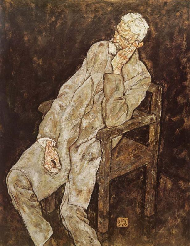 Egon Schiele Portrait of Johann Harms China oil painting art