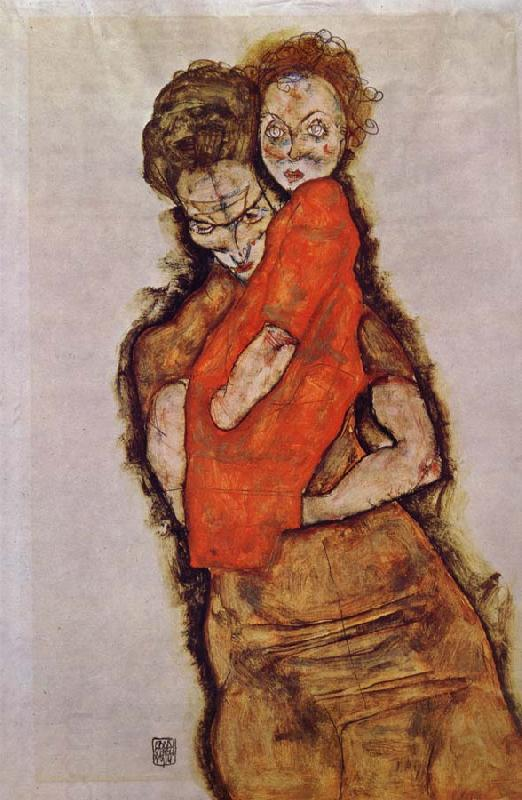 Egon Schiele Mother and Child oil painting picture