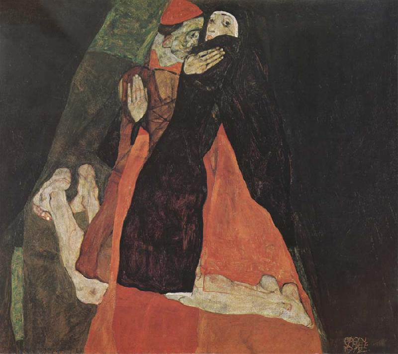Egon Schiele Cardinal and Nun oil painting picture