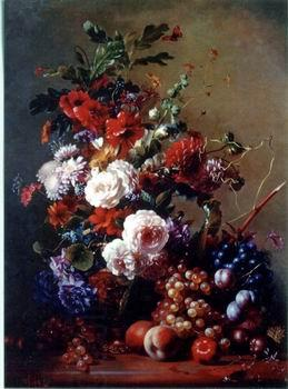 unknow artist Floral, beautiful classical still life of flowers.068