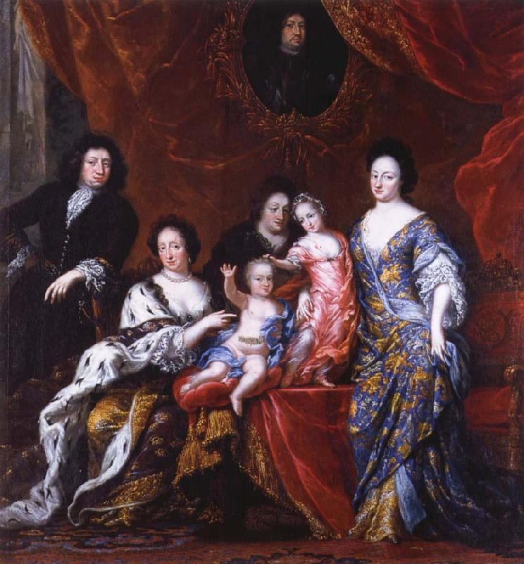 David Klocker Ehrenstrahl Grupportratt of Fellow XI with family