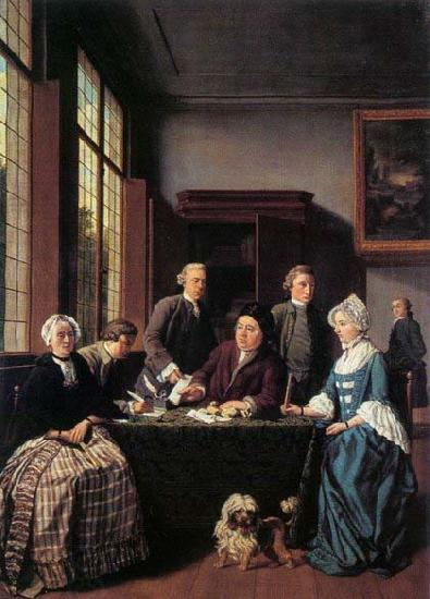 HOREMANS, Jan Jozef II The Marriage Contract oil painting picture