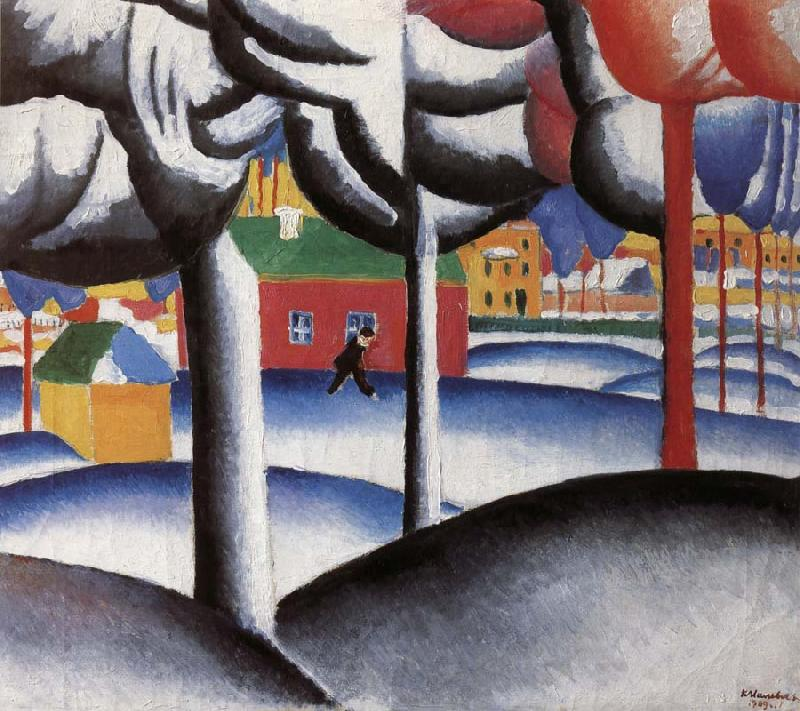 Kasimir Malevich Landscape oil painting picture